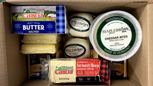 Dairy products in a Farmers to Families Food Box sourced by the Abbey Group
