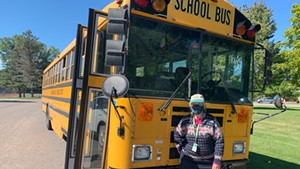Lucy Cooney has been a bus driver at Shelburne Community School for over two decades