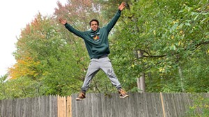 Amir Malik of Essex Junction training for American Ninja Warrior