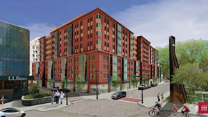 A rendering of CityPlace Burlington on Cherry Street
