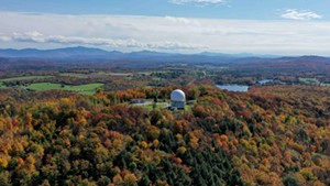 Armand Messier of Northern Vermont Aerial Photography captures fall foliage in St. Albans from above