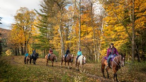 Horseback rides through the seasons with Lajoie Stables