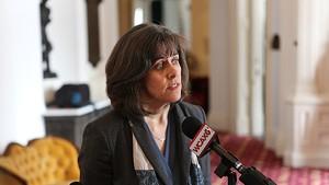 Speaker Mitzi Johnson in March