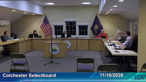 Colchester selectboard members at their November 10 meeting