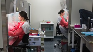 Staff testing samples at the Vermont Department of Health lab