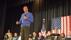 Ohio Gov. John Kasich speaks Saturday in Colchester.