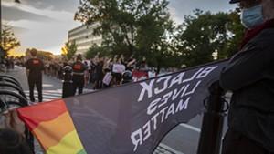 Racial justice protesters in downtown Burlington