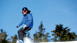 Alison Pariseau, snowboard instructor