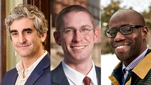 L to R: Miro Weinberger, Max Tracy, Ali Dieng