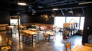The new Four Quarters Brewing taproom in December