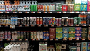 The beer case at City Market, Onion River Co-op