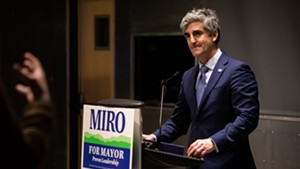 Mayor Miro Weinberger at the ECHO Center on Tuesday