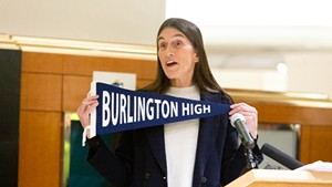 Burlington School Board chair Clare Wool