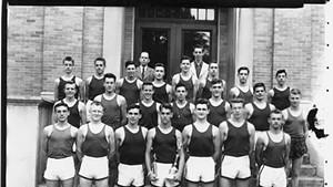 Boys' varsity track team, 1949