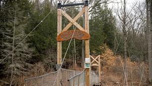 Suspension bridge at LaPlatte Nature Park