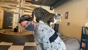 Alexis Dexter and Lexa at the Kitty Korner Café in Barre