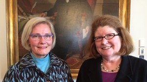 Helen Riehle (left) will replace Sen. Diane Snelling (right), who was appointed Tuesday as chair of the state Natural Resources Board.