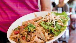 Pad Kee Maow (Drunken Noodles) at Tiny Thai Restaurant