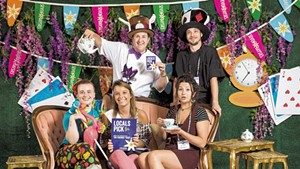Staff from Burlington's Friendly Toast at the Alice in Wonderland-themed Daysies party in 2019
