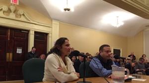 Stephanie Seguino and Burlington Police Chief Brandon del Pozo field councilors' questions about race data.