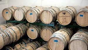 Barrels at Caledonia Spirits