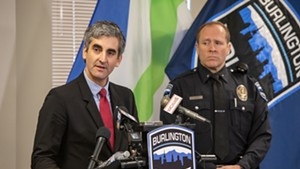 Mayor Miro Weinberger and acting Chief Jon Murad