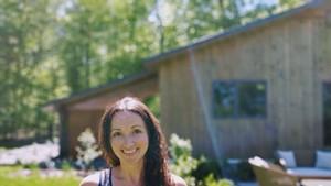 Julie Marks at her short-term rental property in Jericho.