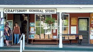 Customers awaiting porch pickup at Craftsbury General Store
