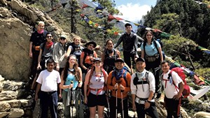 A mountain trek guided by US Sherpa
