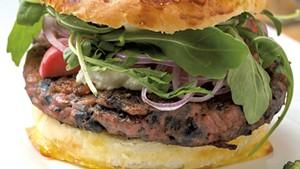 Grazers' beet burger and truffle fries