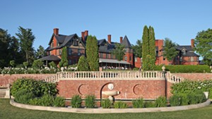 Inn at Shelburne Farms gardens and restaurant guests during a past season