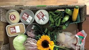 Barn Box chicken dinner ingredients