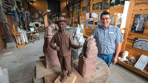 Vermont Granite Museum director Scott McLaughlin