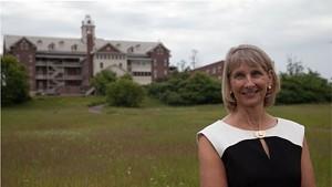 Christine Plunket on the Burlington College campus