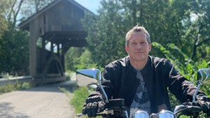 Mike Santosusso rode his motorcycle to 100 covered bridges in 2021