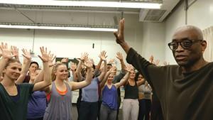 DANCE DANCE REVOLUTION Choreographer Bill T. Jones talks students through his groundbreaking work in LeBlanc and Hurwitz's documentary.