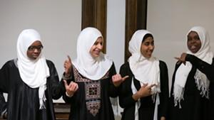 From left: Hawa Adam, Lena Ginawi, Kiran Waqar and Balkisa Abdikadir