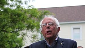 Sen. Bernie Sanders on Sunday in Burlington