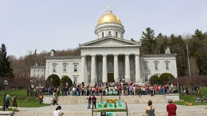 The 2014 signing of Vermont's GMO labeling law, which goes into effect Friday.