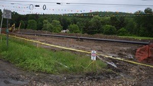 Construction last month on the Vermont Gas Systems pipeline in St. George