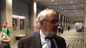 Former Congressman Barney Frank Thursday at the Pennsylvania Convention Center in Philadelphia