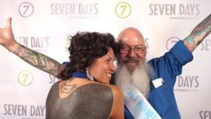 "Dierdra Tara Michelle and ""Bald Bill"" at the 2011 Daysies Awards"