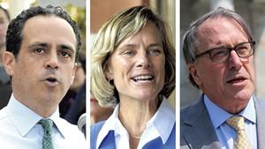 Gubernatorial candidates Matt Dunne, Sue Minter and Peter Galbraith