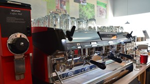 Espresso machine at Beans By the Border