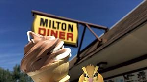 Chocolate-vanilla-twist creemee at the Milton Diner