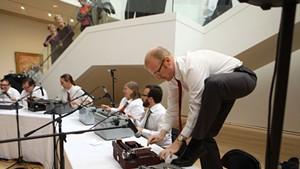 Boston Typewriter Orchestra performing in 2011