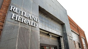 The headquarters of the Rutland Herald