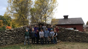 Gardener's Supply students with finished wall