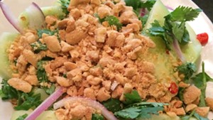Cucumber salad with fish sauce