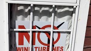 An anti-wind sign